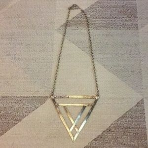 Nasty Gal Gold Triangle Statement Necklace
